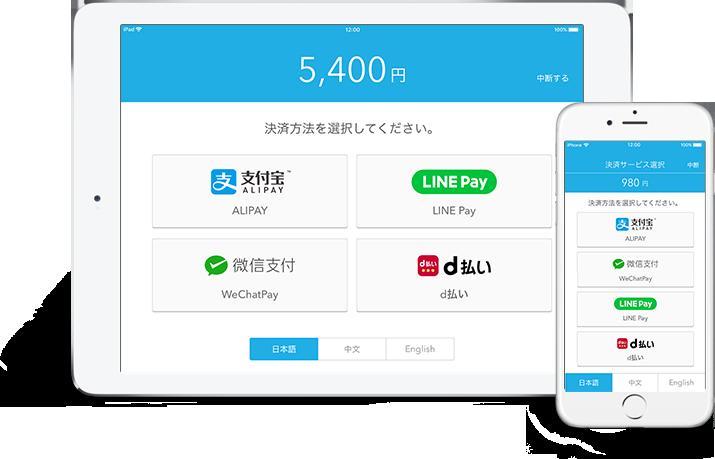 Alipay(支付宝)とWeChat Pay(微信支付)も導入可能なAirペイ