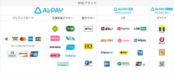 「Airペイ」なら主要カード・銀聯・電子マネー・スマホ決済を一括導入可能