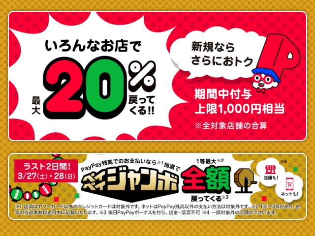 3/1~28は「超PayPay祭 最大1,000円相当 20%戻ってくるキャンペーン」を開催!